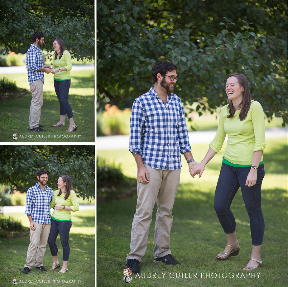 Vibrant couple during summertime engagement photography session